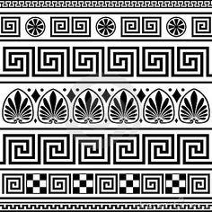 Set of vector greek borders by Ela Kwasniewski, via Dreamstime
