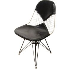 Early Eames Wire Chair With Bikini Pad | From a unique collection of antique and modern chairs at http://www.1stdibs.com/furniture/seating/chairs/