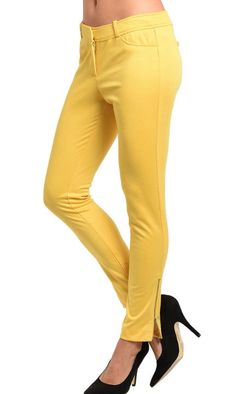 Sunshine Yellow Ladies Pants