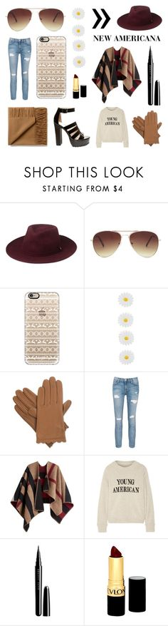 """""""New Americana"""" by samk17 ❤ liked on Polyvore featuring Whistles, Forever 21, Casetify, Accessorize, Isotoner, Current/Elliott, Burberry, The Elder Statesman, Marc Jacobs and Revlon"""