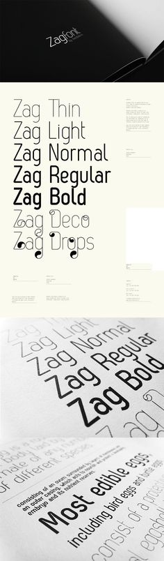Web design freebies, Zag - Free Font
