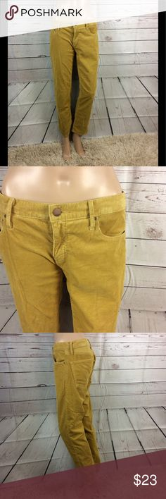 Gap sexy boyfriend autumn gold corduroy pants 26 Gap sexy boyfriend pants Autumn gold Size 26 These are preowned any flaws would be mentioned and shown in pictures These are in very good preowned condition GAP Pants Straight Leg