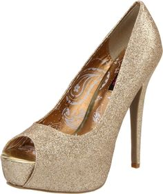Dollhouse Women's Glitz Open-Toe Pump, (platforms, sparkle)