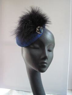 Womens Cocktail Hat  Blue Tartan by MindYourBonce on Etsy, £65.00