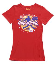 Number 42 - Women's Red Apple Short Sleeve T-shirt – The Color Pop Shop