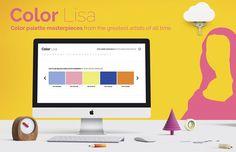 Site traz paletas de cores baseadas nas obras pintadas pelos maiores artistas do mundo - Color Lisa