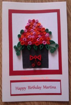 Personalised Birthday card - by: Tatiana Gajdosova Quilled Creations