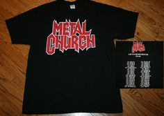 Metal Church A Light In The Dark North American Tour 2006 2007 T-Shirt Men's XL #Anvil #GraphicTee