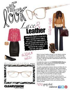 9e306982d8b Lace   Leather plus a pair of chic  BCBG MAX AZRIA Bianca frames