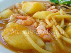 I know Malaga: Malaga Noodle Casserole, clams and prawns Me sabe a Málaga: Cazuela malagueña de fideos, almejas y gambas