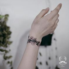 Floral Tattoos #bracelet #floral #tattoo