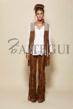 Boho Style - all that fringe. Hippie Style, Hippie Boho, Bohemian Style, Boho Chic, Funky Fashion, Colorful Fashion, Boho Fashion, Boho Outfits, Fashion Outfits