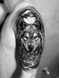 Tattoo wolf - tattoos and piercings - Wolf Tattoo Shoulder, Wolf Tattoo Forearm, Tribal Wolf Tattoo, Wolf Tattoo Design, Lion Tattoo, Tattoo Wolf, Tattoo Designs, Wolf Tattoos Men, Badass Tattoos