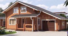Проект деревянного дома — Юрмала с гаражом — ЮГ-205