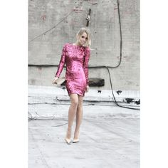 Holiday Dress Inspiration To Make Sure You Sparkle & Shine at all of... via Polyvore featuring dresses, party dresses, sparkly dresses, evening dresses, going out dresses and wet look dress