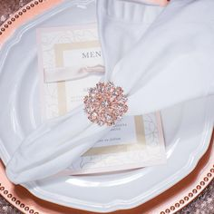 napkin rings Details Description Customize Measurements Inches (Approx): x size) with 1 ring diameter Measurements Millimeters (Approx): x Bling Wedding, Rhinestone Wedding, Gold Rhinestone, Dream Wedding, Decor Wedding, Rhinestones, Wedding Ideas, Diamond Cluster Engagement Ring, Gold Engagement Rings