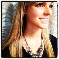 Lyndsey wearing Grace Adele's Pearl Cluster necklace in black. Isn't she gorgeous?