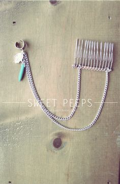 Silver Ear Cuff Hair Piece Comb Accessory with by sweetpeepshere, $15.00