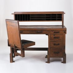 larkin administration building | with chair by Frank Lloyd Wright, about 1904, designed for the Larkin ...