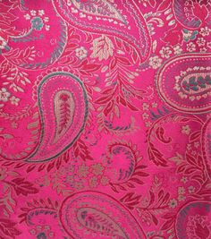 Brocade Fabric-Paisley Burgundy Hunter