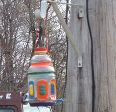 Bird Feeder, Bird House Made With Recycled Juice Containers