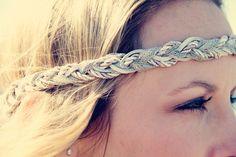 The Grecian Goddess Exotic Braid Headband Neutral by adelitakelly
