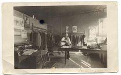 Vintage Photo of Tailor Shop in Big Rapids Michigan. $6.00, via Etsy.