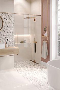 Bathroom Design Luxury, Bathroom Design Small, Small Luxury Bathrooms, Bathroom Design Inspiration, Beautiful Bathrooms, Terrazzo, House Design, Home, Decor Ideas