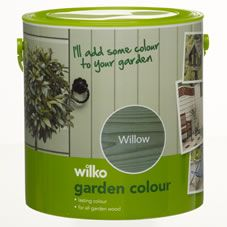Give your wood a fresh lick of paint with Wilko Garden Colour 2.5 litre in Willow. Our garden colour has been specially developed to transform planed and rough sawn garden timber and provide all weather protection. It's based upon a tough water based formulation and contains pigments and waxes to resist ultraviolet and water attack. It's also suitable for use on primed metal and prepared masonry.<BR><BR>Apply by brush. Not suitable for use on decking. <BR><BR>W...