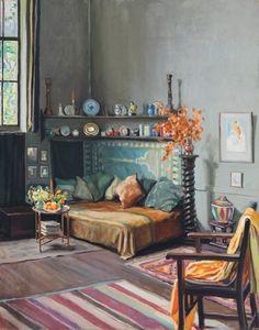 """Hilda Rix Nicholas 1925 """"The Studio, Paris"""""""
