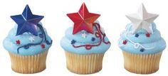 Patriotic Star Cupcake Picks by DecoPac