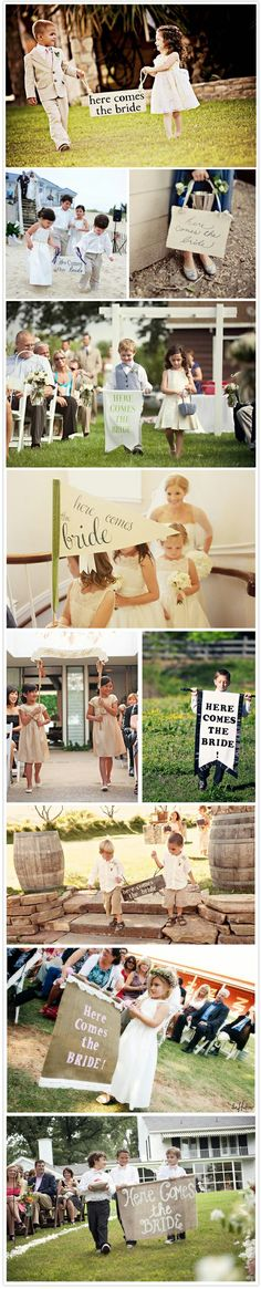 """How to make a """"here comes the bride"""" sign"""