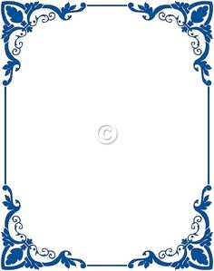 Free Border Clip Art Frames Blue - Cliparts and Others Art Inspiration Frame Border Design, Page Borders Design, Printable Frames, Printable Paper, Wedding Borders, Boarders And Frames, Art Frames, Border Templates, Vintage Borders
