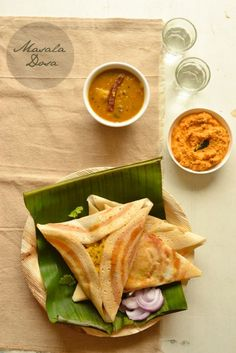 Masala dosa-thin rice and lentil crepes ,stuffed with potato masala!!The most popular South Indian breakfast dish!!Vegan and gluten free!!