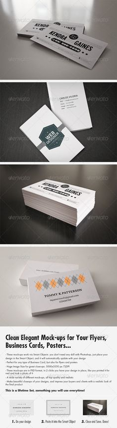 Flyer/Business Card Clean Realistic Mockups Set Template PSD. Download here: http://graphicriver.net/item/flyerbusiness-card-clean-realistic-mockups-set-1-/3271279?s_rank=1785&ref=yinkira