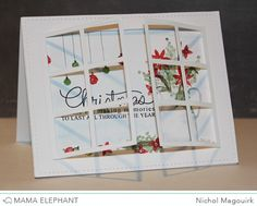 "nichol magouirk: Mama Elephant Designer Series | Peek A Frames Creative Cuts ""Christmas Florals"" Card (video)"