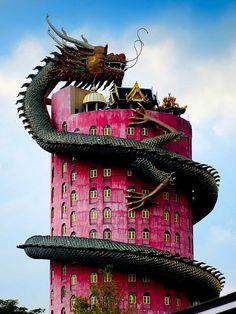 Giant Dragon Temple at Wat Sam Phran  |  Bangkok, Thailand