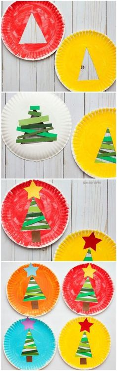 Paper Strip Christmas Tree Craft For Kids by katie