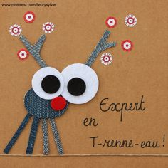 The collec & # - Site toutpetitrien! Jean Crafts, Denim Crafts, Diy And Crafts, Crafts For Kids, Paper Crafts, Small Christmas Gifts, Christmas Crafts, Sylvie Fleury, Fabric Cards