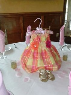 Baby girl dress for centerpiece