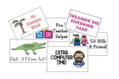 great rewards to try!  could use with students who earn the stickers on their behavior clips?