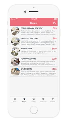 Hotel Booking APP on Behance Hotel Booking App, Penthouse Suite, Empty Room, Behance, Spare Room