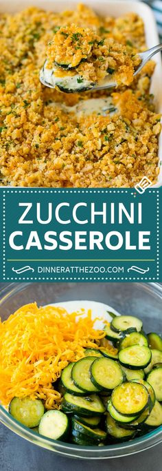 This zucchini casserole is sauteed squash tossed in a creamy sauce with plenty of cheese, all topped off with cracker crumbs and baked to perfection. Potato Side Dishes, Best Side Dishes, Side Dish Recipes, Main Dishes, Zucchini Casserole, Casserole Recipes, Casserole Dishes, Best Dinner Recipes, Supper Recipes