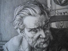Detail from portrait by William Washington Washington, Detail, Portrait, Artist, Headshot Photography, Artists, Portrait Paintings, Washington State, Drawings