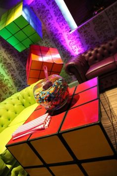 Giant Rubik's Cube, 80s Party Ideas | 80s Themed Party Supplies & Decorations | Event Prop Hire