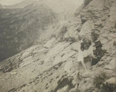 French Antique Photo  Young Woman Climbing a by ChicEtChoc on Etsy