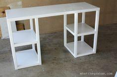Ana White Parsons Tower Desk DIY