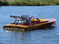 Flat bottom v-drive. Sport Boats, Ski Boats, Wooden Speed Boats, Wooden Boats, Fast Boats, Cool Boats, Drag Boat Racing, Boat Wallpaper, Flat Bottom Boats