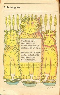 CUENTOS MEXICANOS. TRABALENGUAS, LOS TRES TRISTES TIGRES.