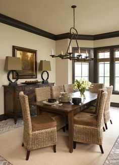 Dark Wood Trim Design Pictures Remodel Decor And Ideas